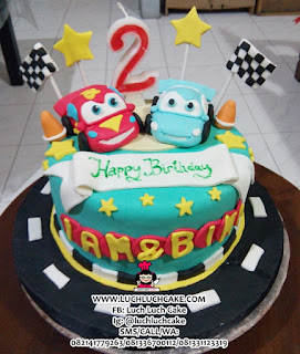 Fondant Cars Birthday Cake