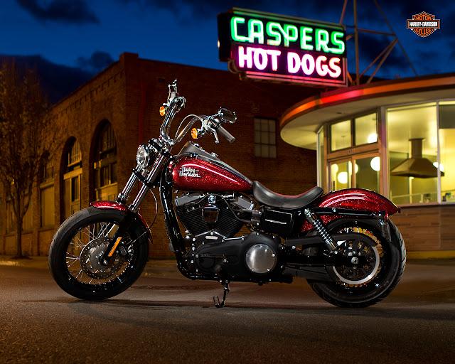 Harley-Davidson Street Bob red HD Wallpaper: