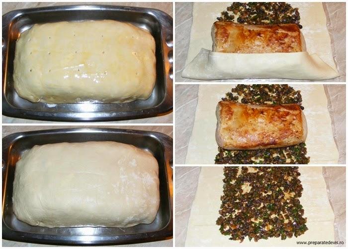 retete si preparate culinare muschi de porc in aluat foietaj, friptura de porc la cuptor, retete culinare, preparate culinare, retete de mancare, retete cu carne de porc, preparate din carne de porc, preparare muschi in aluat, preparare cotlet in aluat,