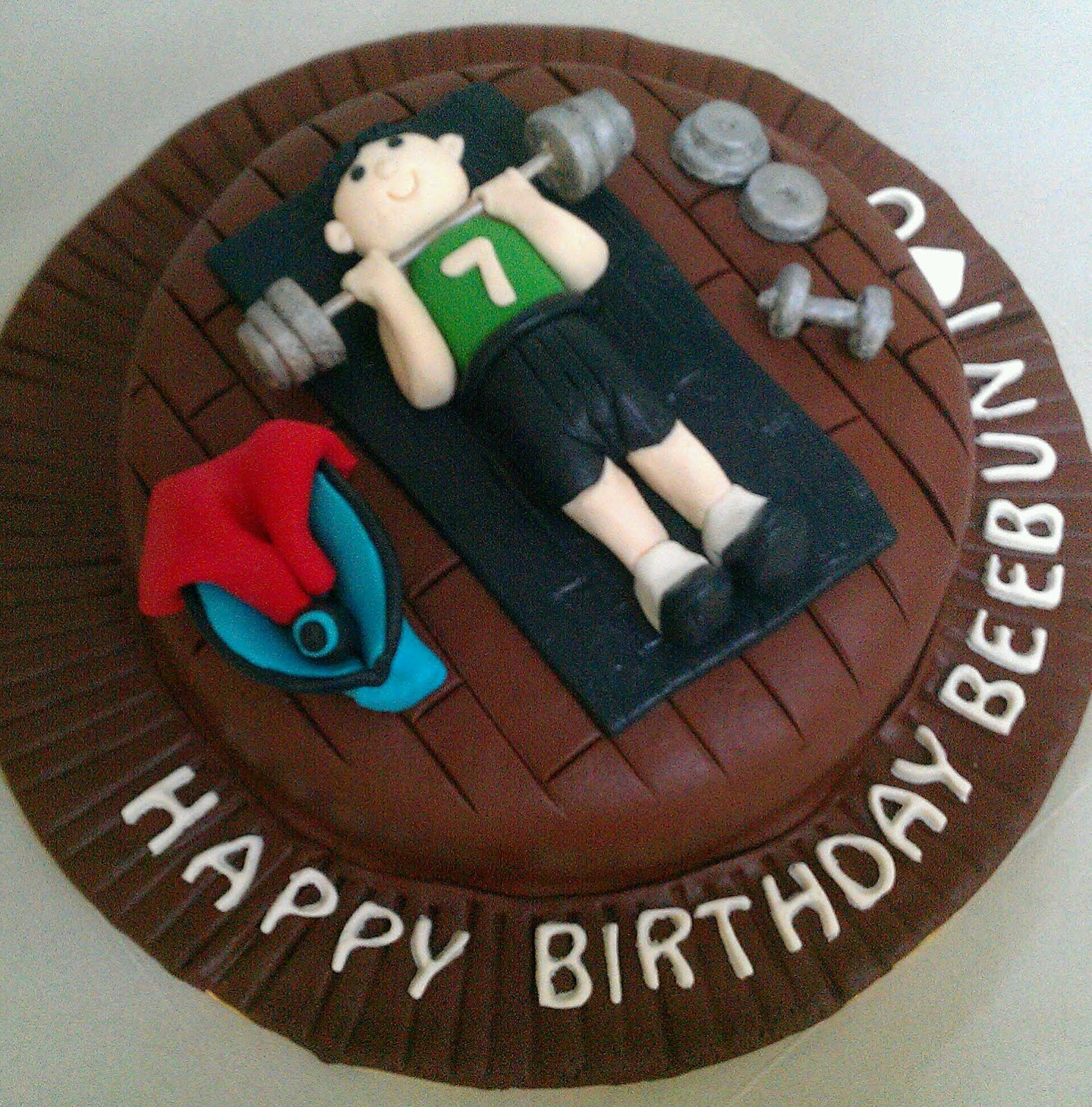 Zairie Homemade Delights: 3D Gym cake