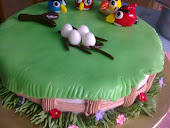 3D Angry Bird Fondant &amp; Buttercream