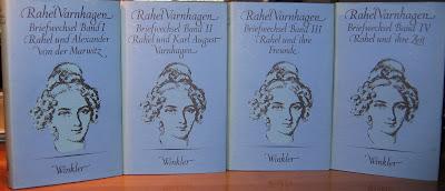 Rahel Varnhagen, Briefwechsel. Hrsg von Friedhelm Kemp. Zweite, durchgesehene und um einem Nachtrag vermehrte Ausgabe. Winkler Verlag, München, 1979