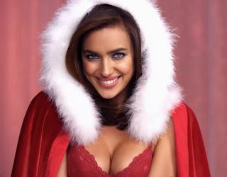 irina-shayk-sexy-red-christmas-lingerie