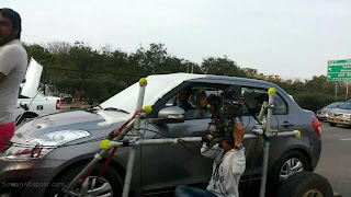 Sonam Kapoor and Ayushman at YRF next movie on location stills