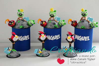 centros de mesa angry bird space