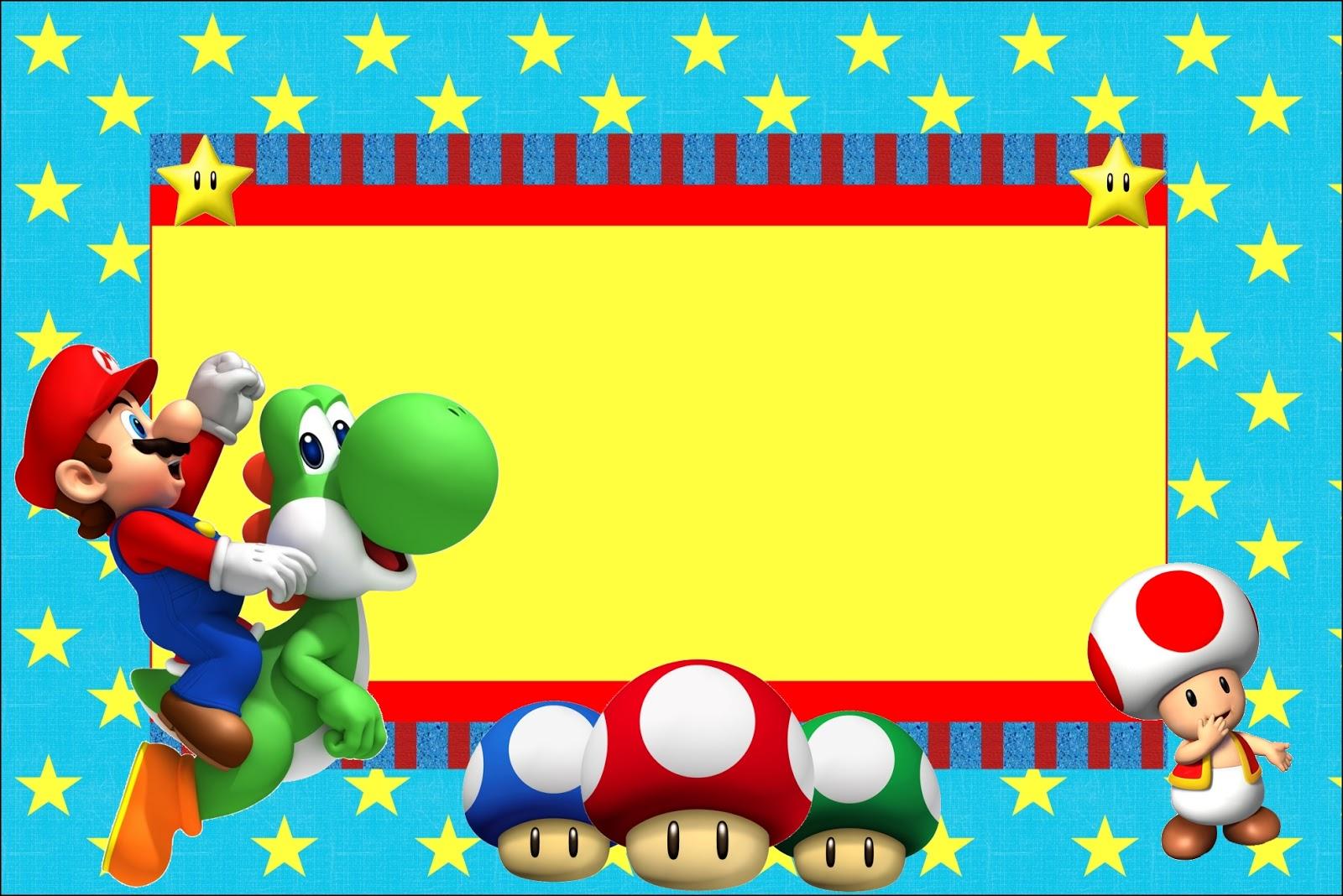 Invitación Mario Bros para imprimir - Imagui