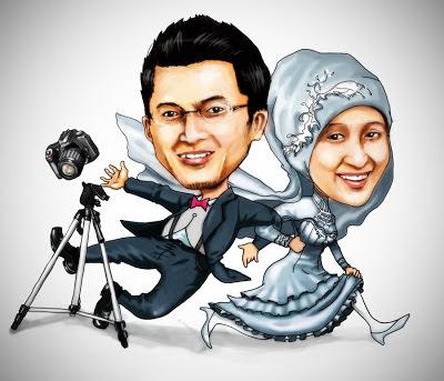 Karikatur Unik Pasangan Menikah