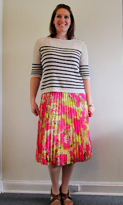 Understated Classics_floral skirt