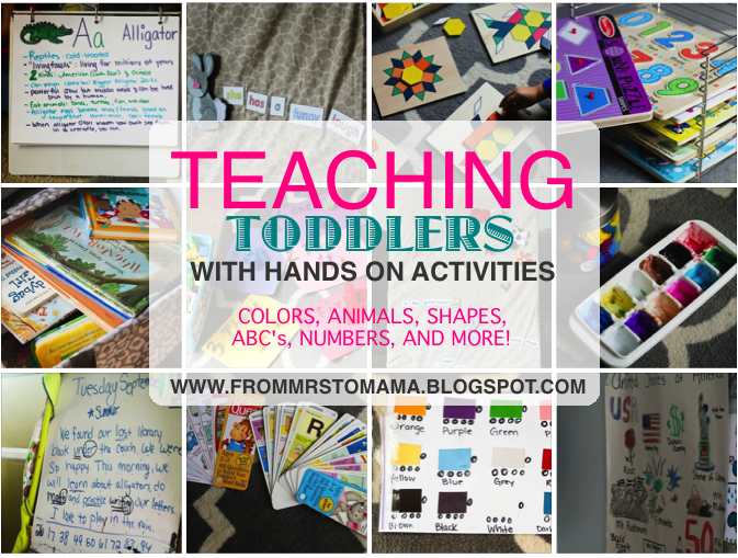 32 Hands On Teaching Toddlers