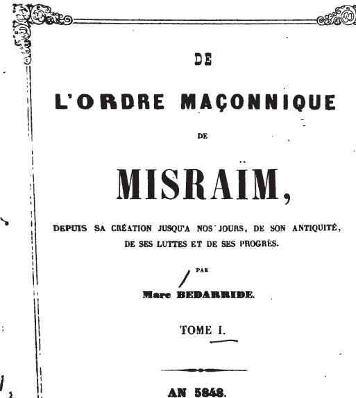 La Orden Masonica de Misraim