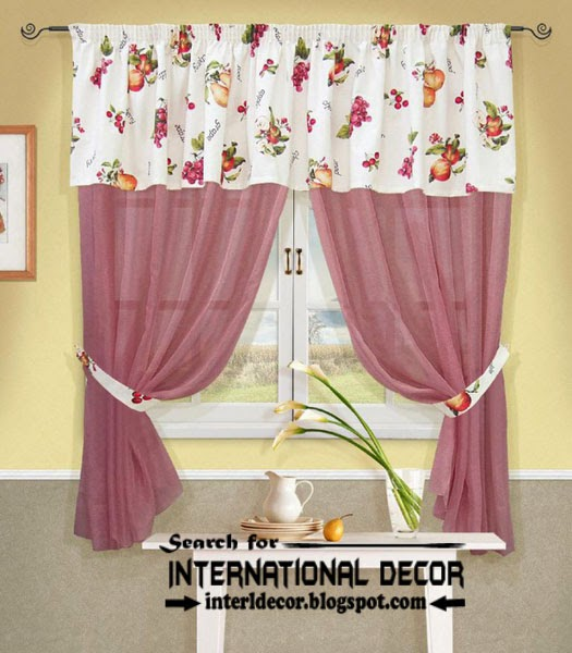 kitchen curtains designs, ideas 2015, pink curtains for kitchens, country curtains