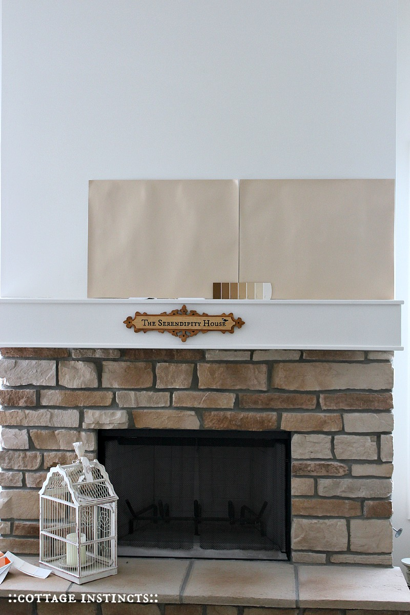 cottage instincts fireplace before and after