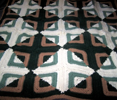 Reversible Log Cabin Afghan - Free Pattern