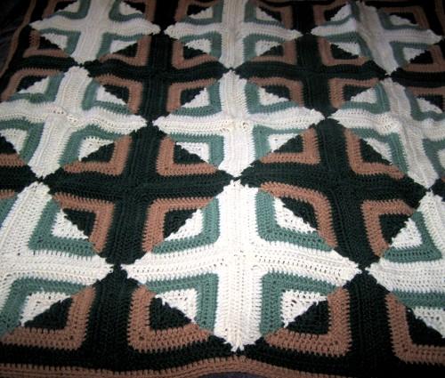 Reversible Log Cabin Afghan - Free Pattern