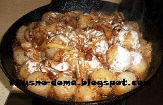 Клецки со шкварками и луком. Белорусская кухня.