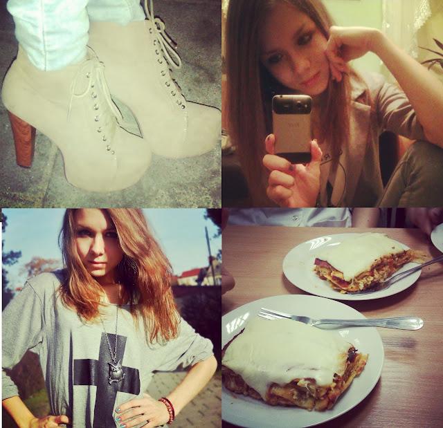 lity, wysokie buty, lasagne