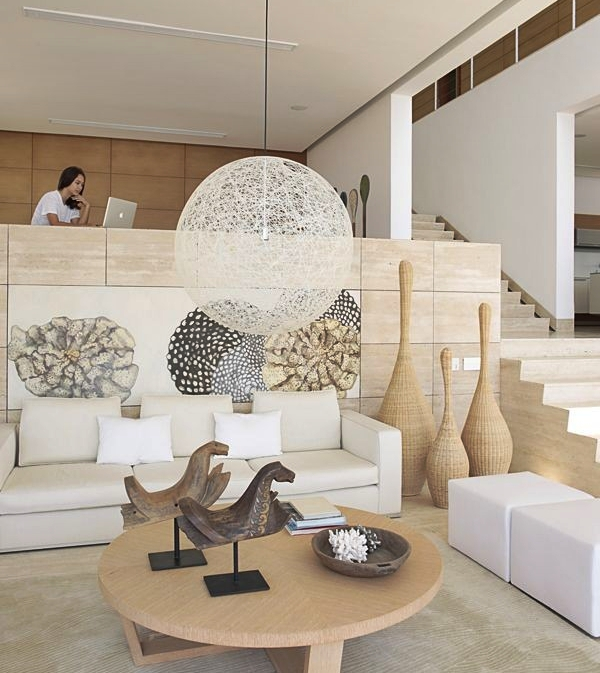 Coastal style a modern beach house in the phillipines for Modern beach house living room