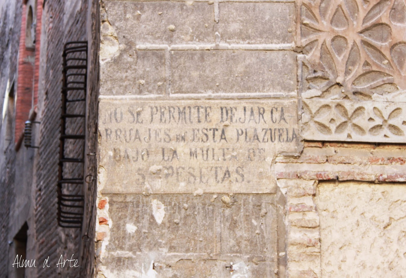 Cartel del centro histórico de Segovia