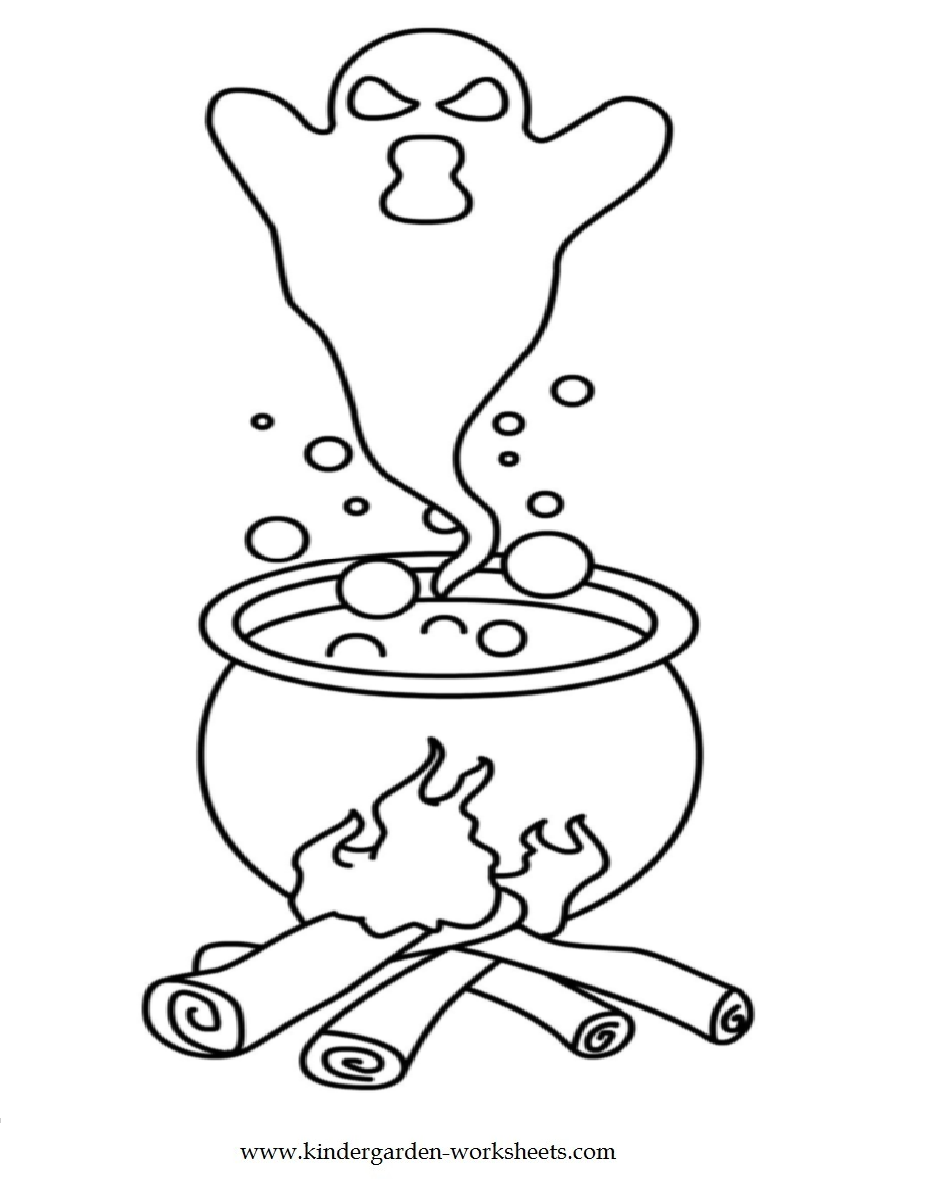 preschool halloween coloring pages - photo#33