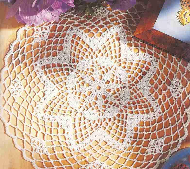 "Tapete ""Rueda de mariposas"" a Crochet"