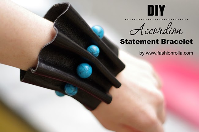 How to make an Accordion Statement Bracelet created by Xenia Kuhn for www.fashionrolla.com