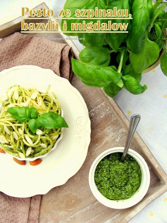 Pesto szpinakowo, bazyliowo, migdałowe