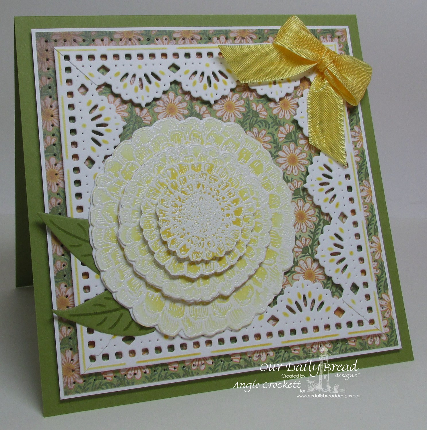 Stamps - Our Daily Bread Designs Zinnia, ODBD Blooming Garden Paper Collection, ODBD Custom Zinnia and Leaves Die, ODBD Custom Beautiful Borders Dies