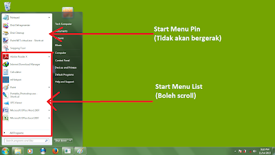 Cara Letak Folder Di Start Menu List Tutorial