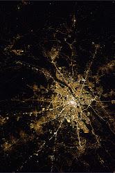 Warszawa nocą (z satelity)
