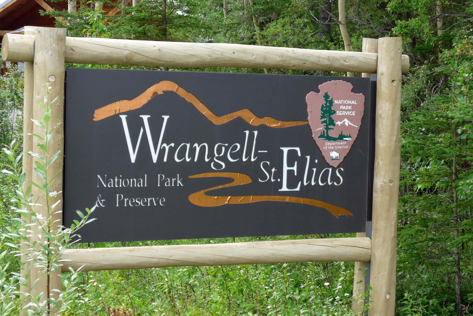 Sign of Wrangell - St. Elias National Park Preserve