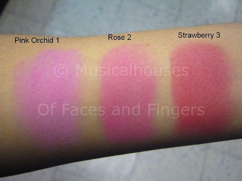 Barry M Blusher Swatches