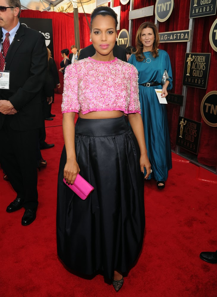Kerry Washington in Prada at the SAG awards