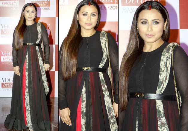 Rani Mukherjee in Black Anarkali Dress at Vogue Beauty Awards 2015