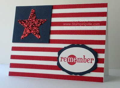 Patriotic Greeting Card Remembering Military Heroes