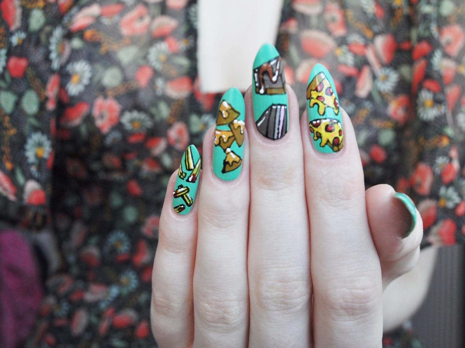 Junk Food nail art | Abbienail