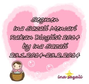 http://inasazali.blogspot.com/2014/01/segmen-ina-sazali-mencari-rakan.html