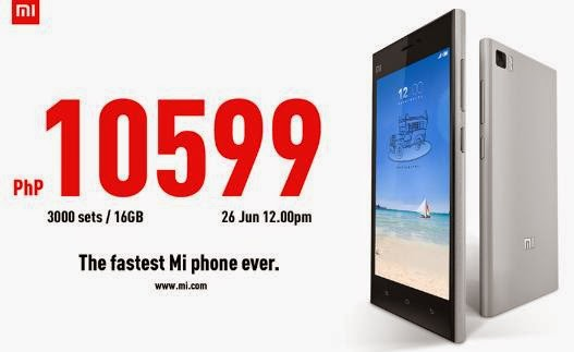 Xiaomi Mi3 Will Be Available Starting On June 26 For Only Php10,599