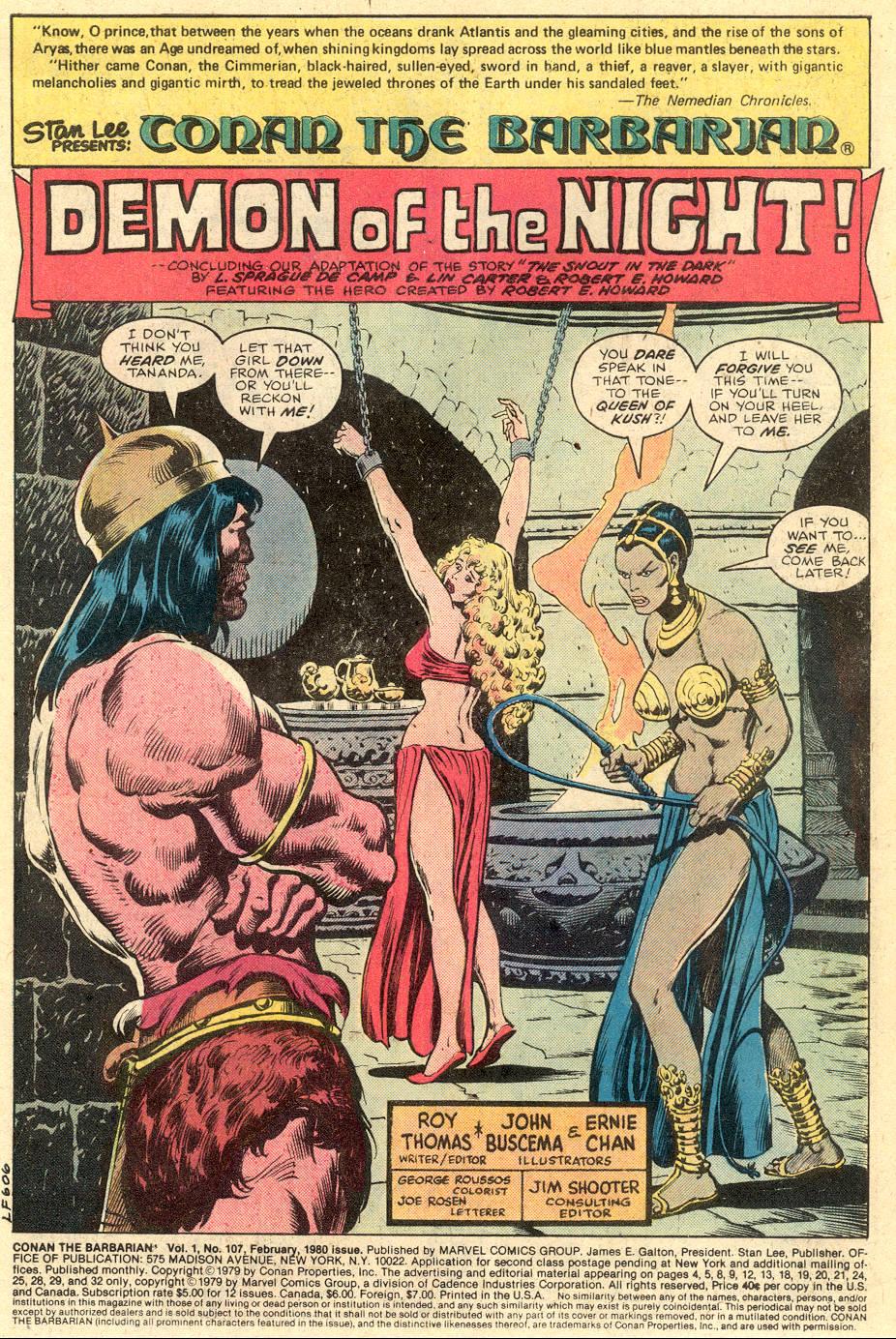 Conan the Barbarian (1970) Issue #107 #119 - English 2