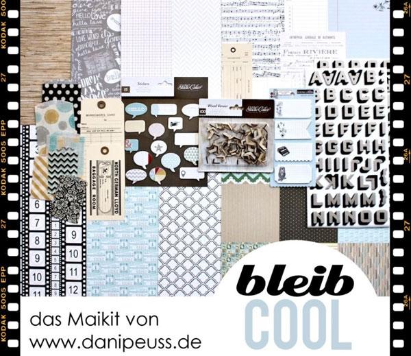 "Das Scrapbooking-Monatskit im Mai ""bleib cool"" von www.danipeuss.de"