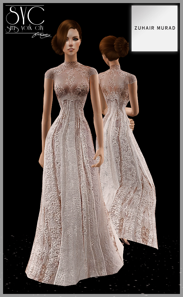 sims york city zuhair murad pearl dress wedding