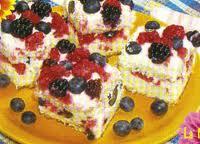 prajitura cu branza si fructe