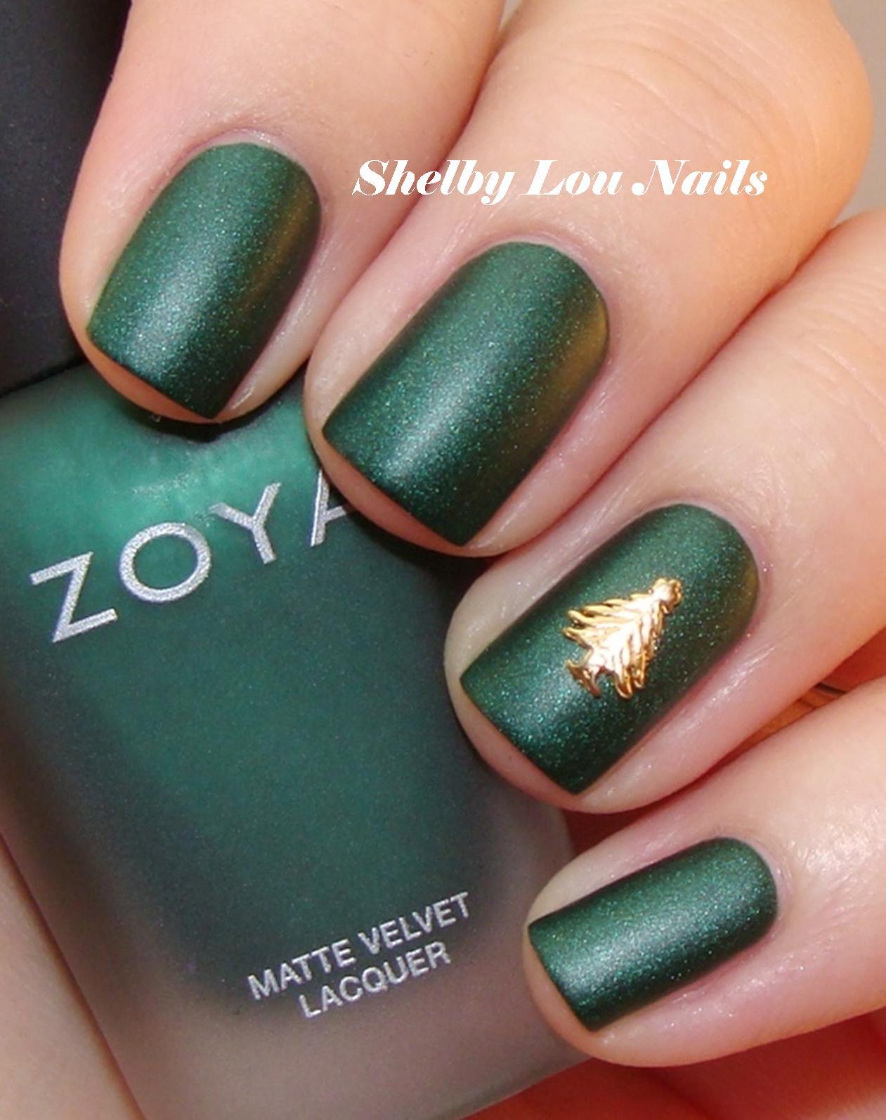 Shelby Lou Nails: Zoya Veruschka with Hex Nail Jewelry