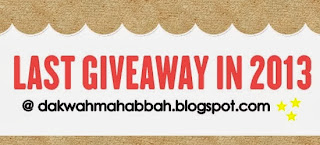 Last Giveaway By Ain Rahman Blogs