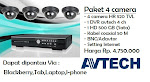Paket 4 Camera HR 520 TVL