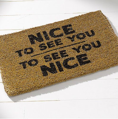 The Lurkers CV+Nice+to+see+you+welcome+mat