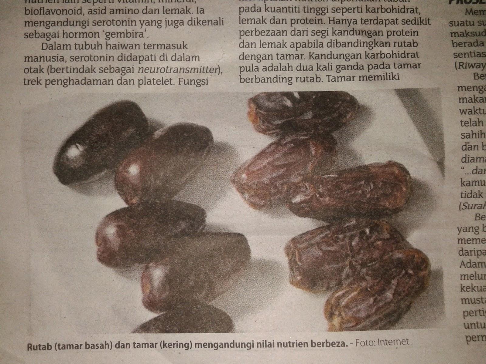 kurma, rutab, vitamin C