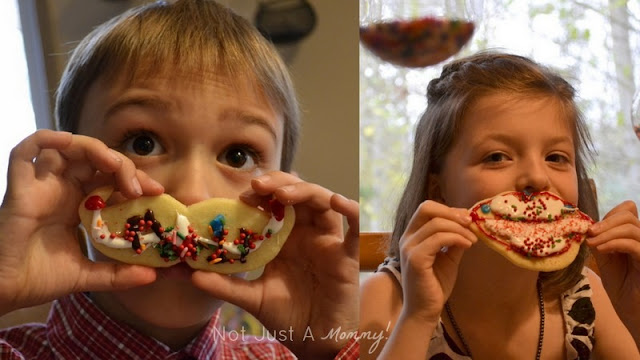 Mrs. Claus and Santa's Bash decorated cookies