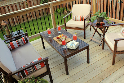 refinished deck furniture