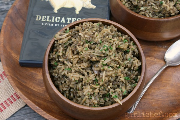 Lentils w/ Rice inspired by Delicatessen #FoodnFlix | www.girlichef.com