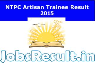 NTPC Artisan Trainee Result 2015